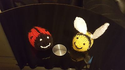 Easter Busy Bee/Ladybird Hand Knitted Creme Egg Covers