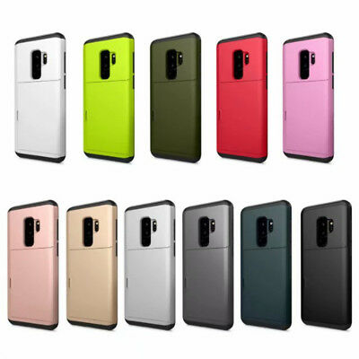 Shockproof Wallet Credit Card Holder Case Cover for Samsung Galaxy S8 S9 Note 9
