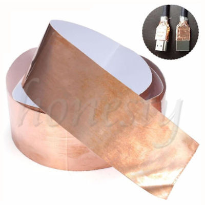 1pc Copper Foil Shielding Tape 50mm*1m Low Impedance Conductive Adhesive