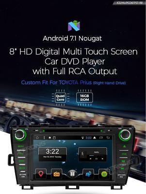 Xtrons Pcd87Pst-Rb Android 7 Autoradio Car Player Navi Gps X Toyota Prius 09-13