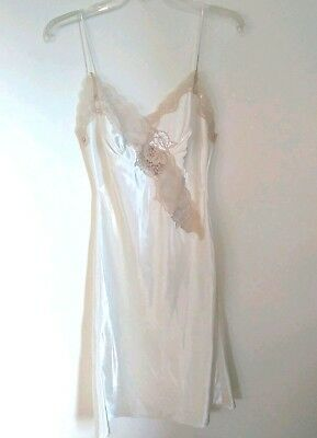 Victorias Secret Gold Label Vintage Chemise Nightgown Ivory Lace Small S