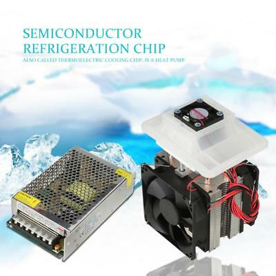 110/220V Semiconductor Refrigeration Cooler DIY Air Cooling Device +Power Supply