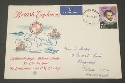 Great Britain 1973 British Explorers First Day Cover Addressed