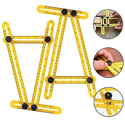 2pcs Angleizer Template Tool Measuring Instrument Four-Side Multi Angle Ruler