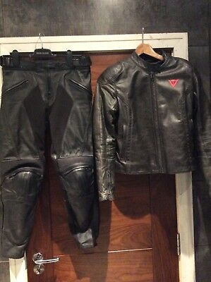 Dainese trousers Biker jacket size 44 excellent condition suite Leather Sport