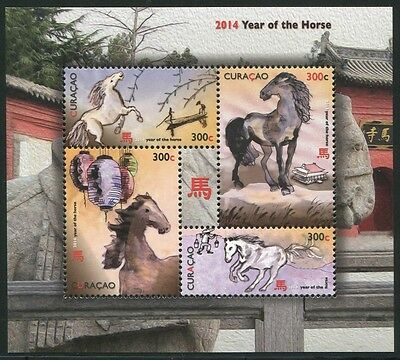 Curacao 2014 Jahr des Pferdes Year of the Horse New Year Neujahr Zodiac ** MNH