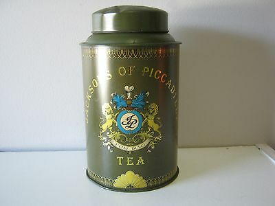Vintage Jacksons Of Picadilly Tea Cannister Tin