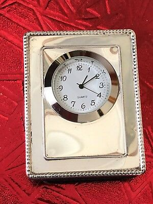 Sterling Silver Fronted Clock - GK & CK - London - 1994.