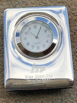 Sterling Silver Fronted Clock - Carr's of Sheffield Ltd - Sheffield - 2001