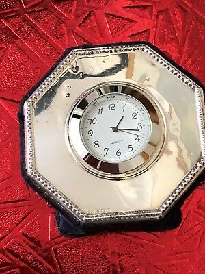 Sterling Silver Fronted Clock - GK & CK - London - 1997.