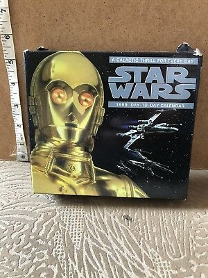 Star Wars 1999 Vintage Day-To-Day Calendar unused and in tact