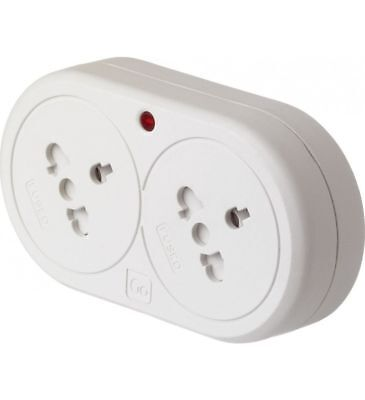 Design Go Duo Visitor to UK double travel plug - Brand New In Retail Pack****