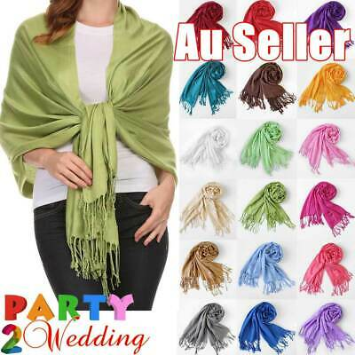 Fashion Womens Lady Girl Pashmina Warm Soft Solid Long Pashmina Shawl Wrap Scarf
