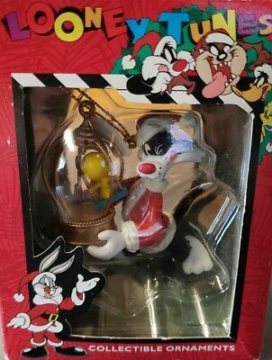 "Matrix Looney Tunes SYLVESTER CAT AS SANTA CLAUS 3"" CHRISTMAS ORNAMENT 1996 NEW"