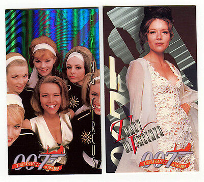 The Women of JAMES BOND Trading Card Chase card lot B1 & E3