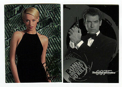 JAMES BOND Tomorrow Never Dies Trading Card Chase lot W3 & B1 Dressed to Kill