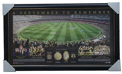 Richmond 2017 AFL Premiers Official Panoramic Grand Final Print Framed - MARTIN
