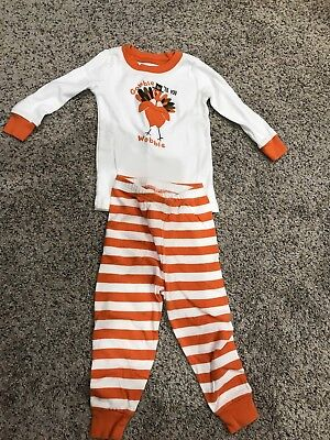 Thanksgiving Turkey Pajamas Size 18-24 Months