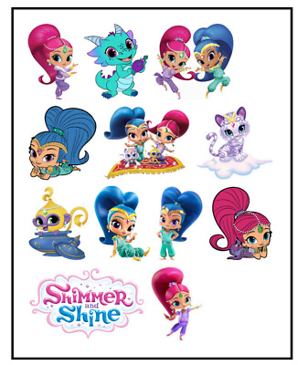Shimmer and Shine x 30 Cupcake Toppers Edible Wafer Paper Fairy Cake Toppers