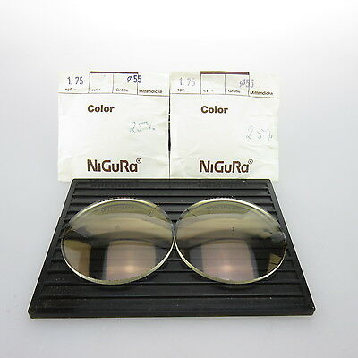 2x Nigura Color Ø 55mm | sph. -1,75 | cyl. - | Brillenglas / Lins