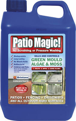 Patio Path Cleaner Slab Green Mould Algae Killer Liquid Concentrate Bottle 2.5L