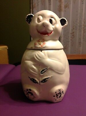 Vintage Panda Bear Cookie Jar Ceramic Painted Relic Collectible McCoy USA Rare