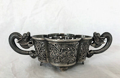 Tuck Chang...shanghai...chinese Export Silver...basket...1900..dragon