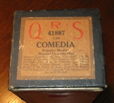 Comedia Popular Medley Of Six Songs From Broadway Shows Original Piano Roll 1018