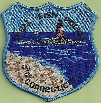 Shell Fish Connecticut Police Patch Lighthouse!
