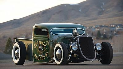 "Rat rod hot classic retro tuning Mini Poster 24"" x16"""