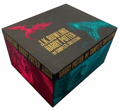J K Rowling Harry Potter 7 Books Collection Complete Set Gift Box NEW