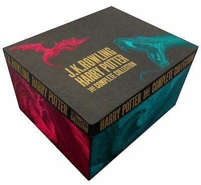 J K Rowling Harry Potter Complete 7 Books Collection Gift Box Set Deathly Hallow