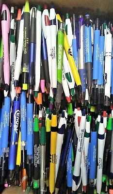 50 Misprint Ball Point Pens With Metal Pocket Clip And Retractable..free Ship