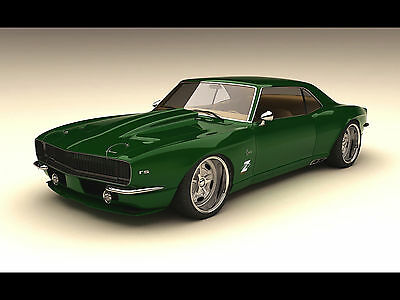 "1968 Zolland Chevrolet Camaro Custom hot rod classic Mini Poster 24"" x 16"""