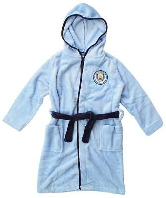 Manchester Man City kids dressing gown / Childrens bathrobe (childs boys pajamas