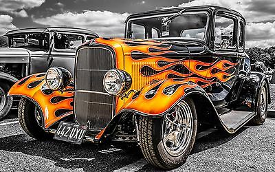 "Hot Rod Classic Mini Poster 24"" x 16"""