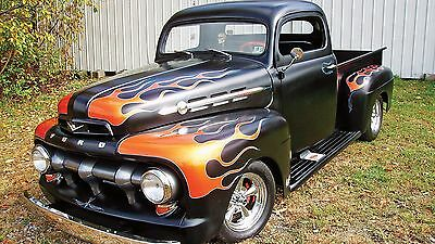 "Flames Hot Rod Ford Truck Classic Mini Poster 24"" x 16"""