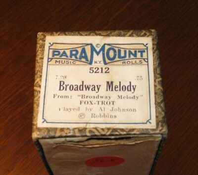 Broadway Melody From The 1929 Musical Original Piano Roll 1018