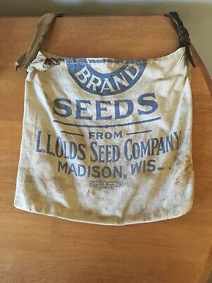 "Vintage Olds"" Brand Seed Bag, from  Olds Seed Company, Madison, Wisconsin"