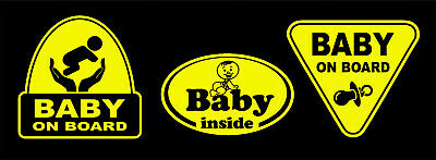 Set Baby On Board Child Boy Stickers Decals Signs Car Window Bumper Safety