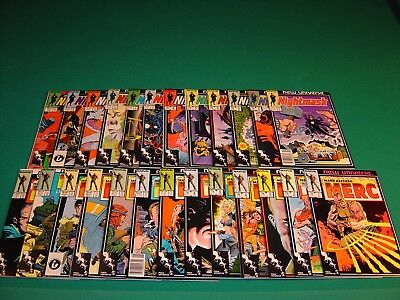 Mark Hazzard: MERC 1-12, Annual 1 (1986) VF- & Nightmask 1-12 (1986) VF Marvel