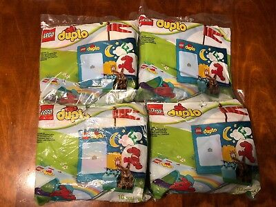 Lego Duplo MY FIRST SET Bunny Rabbit 40167 10pc Polybag LOT of 4 Party Gift