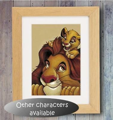 Disney characters Poster Picture Print Photo Decor wall Gift Nursery Lion King