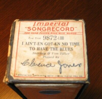I Ain't-En Got-En No Time Blues Plyd By Clarence Jones Original Piano Roll 1018