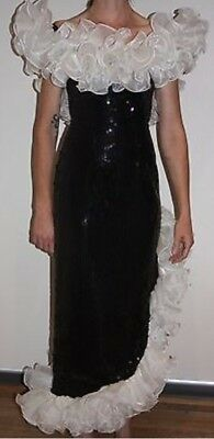 Vintage 80's PROM dress PARTY cocktail HENS bridesmaid FORMAL DYNASTY costume