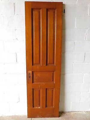 1890's Wooden DOOR Quarter-Sawn Oak VICTORIAN Style Five Raised Panels ORNATE