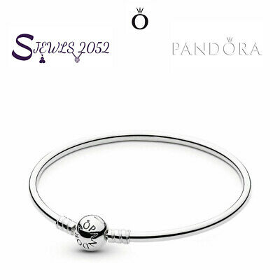 "Authentic Pandora Sterling Silver Bangle Bracelet 7.5"" (19cm) 590713-19 NEW"
