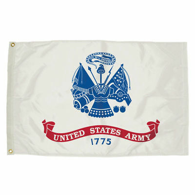 US ARMY WHITE Flag 3'x5' BANNER Polyester with Grommets MILITARY VETERAN SUPPORT