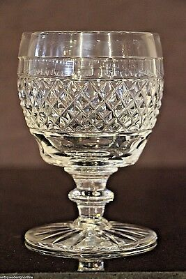 17cm tall  antique crystal toasting goblet Georgian cut glass wine chalice vase