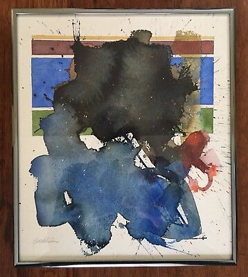 Original Abstract Painting Richard Buckheim American